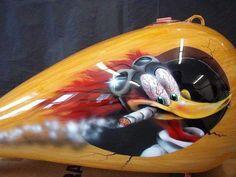 Custom Paint Motorcycle, Motorcycle Tank, Airbrush Art, Air Brush Painting, Car Painting, Custom Paint Jobs, Custom Art, Moto Fest, Paint Themes
