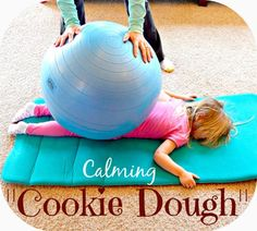 """Before bedtime: Calming activity for active kids. """"Cookie dough"""""""