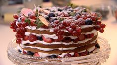 Genoise sponge cake with summer berries--ridiculously easy to make and sooo impressive, light & tasty!