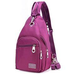 Women Nylon Chest Bag Upgrade High-End Daily Crossbody Bag Waterproof Shoulder Bag