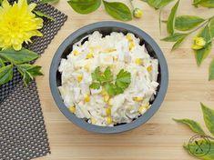 Sałatka meksykańska Kobieceinspiracje.pl Cheddar, Potato Salad, Grains, Rice, Potatoes, Lunch, Ethnic Recipes, Food, Kitchen