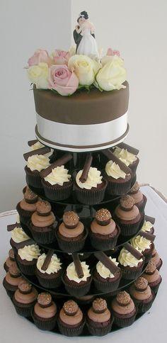 Chocolate cupcake tower