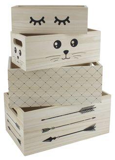 room Hide opbevaringskasser i træ med motiv Hobby Room, Wood Boxes, Toy Chest, Storage Chest, New Homes, Furniture, Home Decor, Rooms, Bedrooms