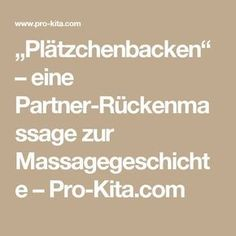 """""""Plätzchenbacken"""" – eine Partner-Rückenmassage zur Massagegeschichte – Pro-Kita.com"""