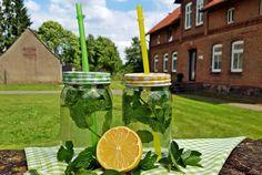 Sommer Sirup mit Minze und Zitrone für erfrischenden Eistee
