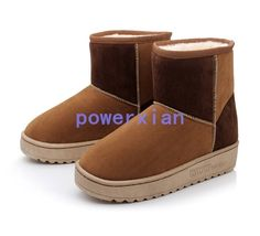Womens Pull On Winter Platform Fur Lining Warm Snow Snow Ankle Boots Shoes 5-9