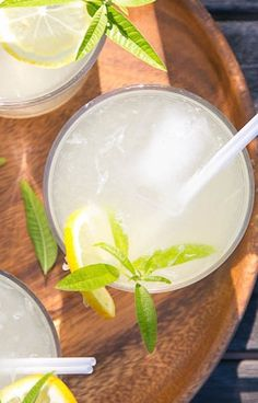 Grown-up lemonade with a hint of floral lemon verbena, this might just be your new favorite cocktail.