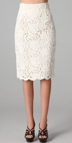 36e0ac4b986d3 Elie Tahari Bennet Lace Skirt