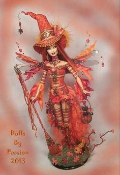 Barbie Witch Fairy Goth Clay CAT Collector ART Doll Altered Ooak Custom Passion | eBay