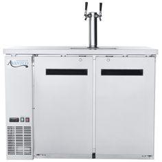 shop avantco udd 48 hc s double tap kegerator beer dispenser stainless - Beverage Air Kegerator
