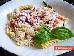 The Recipe for Fusilli with Tomatoes and Ricotta | Italian Food Recipes | Genius cook - Healthy Nutrition, Tasty Food, Simple Recipes
