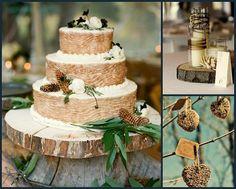 Ideas para bodas en Invierno - la tarta / winter wedding inspiration:the cake