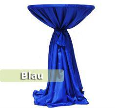 Stehtischhusse Satin blau