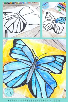 Explore the concept of symmetry while making your own watercolor butterfly painting. This lesson inlcudes a free video tutorial! Butterfly Drawing, Butterfly Painting, Butterfly Watercolor, Symmetry Art, Spring Art Projects, Kids Watercolor, 3rd Grade Art, Insect Art, Kindergarten Art