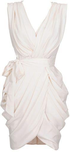 Monroe White Chiffon Wrap Dress wedding-bliss