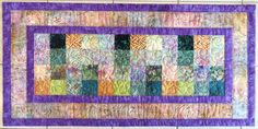 Handcrafted Quilted Batik Table Runner in by Quiltsbysuewaldrep