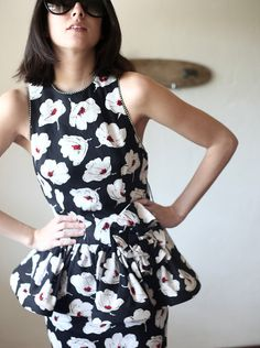 Floral peplum dress on Etsy