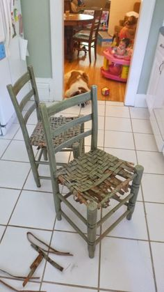Pennies And Glue: Breathing New Life Into Old Chairs, Redoing Wooden Chairs,  Weaving