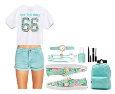 This Feels Like Falling In Love by tiffanymejia on Polyvore featuring polyvore, moda, style, Vans, Forever 21, Domo Beads, Kate Spade, Sisley Paris, Marc and Essie