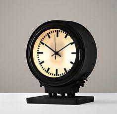 Metro Lighted Train Station Clock | Accessories | Restoration Hardware Baby & Child