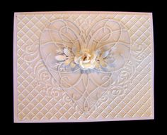 Pearl white cards with La Rue Heart