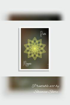 Solar Plexus Chakra Art Print Digital Download Yoga Dcor Manipura Yellow Mandala