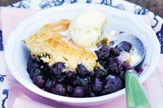 Blueberry Cornmeal Cobbler