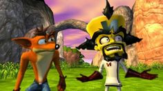 This is from my favorite Crash game. Crash Bandicoot Twinsanity, a must-have if you ask me ; Crash Bandicoot Twinsanity, Spyro The Dragon, Classic Video Games, Best Games, Videogames, Mickey Mouse, Childhood, Gaming, Cartoon