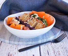 Tofu Tahini Salad Bowl - Eating your way to a better night's sleep!