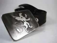 Mighty Gryphon Belt Buckle  Etched Stainless by RhythmicMetal, $60.00
