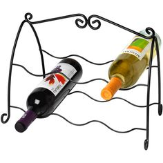Spectrum Diversified Designs Scroll 6-Bottle Wine Rack, Black: Kitchen & Dining : Walmart.com