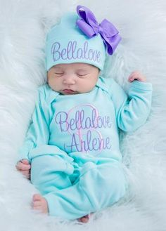 baby top knot headband preemie baby beanie Levander floral footed pants newborn girl foot pants top knot beanie coming home outfit