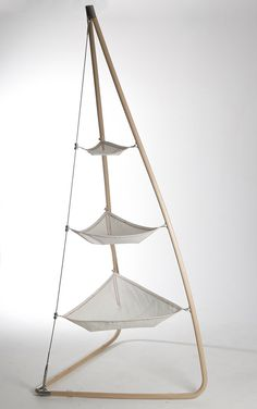 Ketch- SailWorks Collection- reclaimed sails with laminated wood and stainless steel joints
