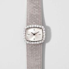 Longines Diamant-Damenarmbanduhr 1970er Jahre. 750 Weissgold. Handaufzug, Cal. 320, Werk Nr. 139197 — Schmuck