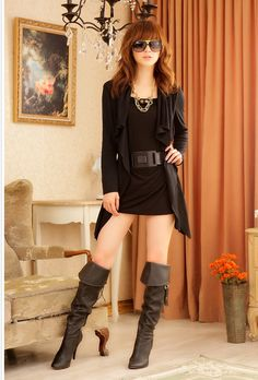 Ruffles Long Sleeve Fashion Girl Dress  Item Code:#JK1569+Black        Wholesale Price: US$13.00    Shipping Weight: 0.58KG