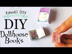 DIY Dollhouse Mini Books - With FREE Template - YouTube