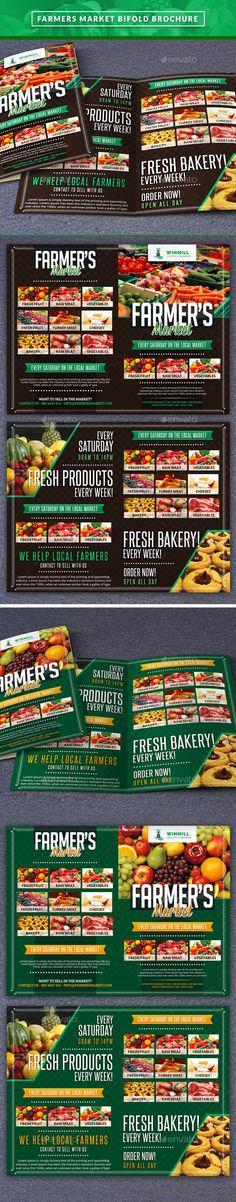 Farmer's Market Commerce Biffold Brochure Tempalte #design Download: http://graphicriver.net/item/farmers-market-commerce-biffold/11673246?ref=ksioks