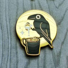 Your place to buy and sell all things handmade Jacket Pins, Penny Rugs, Cool Pins, Pin And Patches, Metal Pins, Linocut Prints, Pin Badges, Cute Jewelry, Lapel Pins