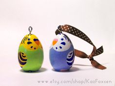 Custom Parakeet Figurine or Seasonal Ornament by KazFoxsen on Etsy, $33.00