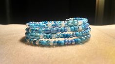 Depths of the Sea-Memory wire bracelet