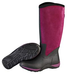 Muck Boots Women's Arctic Adventure Zip Suede Winter Boot - Black/Purple (AAZ-500S) 1