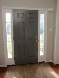 Inside of Front Door Painted - Benjamin Moore Chelsea Gray