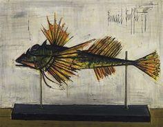 Poisson naturaliste By Bernard Buffet ,1958