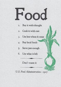 Michael Pollan, famous for The Omnivore's Dilemma among many other books, wrote Food Rules to provide a primer for people who want to eat in a way that is more sustainable - personally, environment...