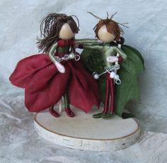 Items similar to Christmas elf fairy couple - Waldorf Flower Fairy Doll - Poinsettia Flower Fairy Couple on Etsy Flower Crafts, Diy Flowers, Colorful Flowers, Flower Fairies, Flower Petals, Elf Doll, Poinsettia Flower, Fairy Figurines, Christmas Fairy