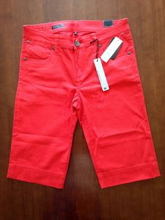 Kut from the Kloth Jenna Bermuda Short. I love the length of these and the bright color!
