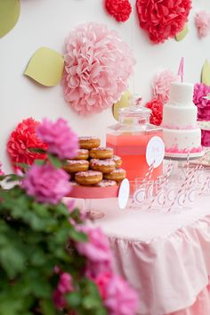 Parties | Kiki's List Super cute dessert station for a bridal shower.