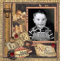Love this An ABC Primer Layout: Lee, First Grade by Kkastle on @Scrapbook.com . #graphic45 #layouts