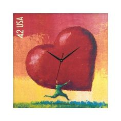 Add a splash of eye-catching color to your living room, kitchen, or office with this charming wall clock. #jossandmain