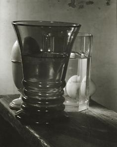 Josef Sudek - Still Life [Glasses with eggs] - 1950s